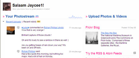 Flickr home page redesign