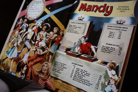Mandy for girls 1977 inside cover