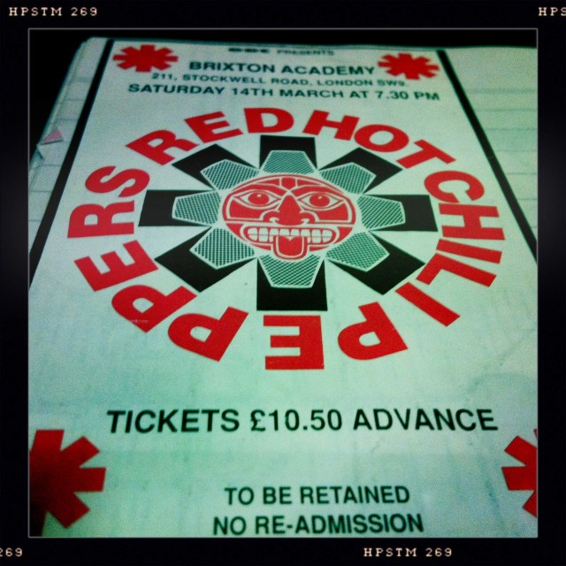 Red Hot Chili Peppers ticket
