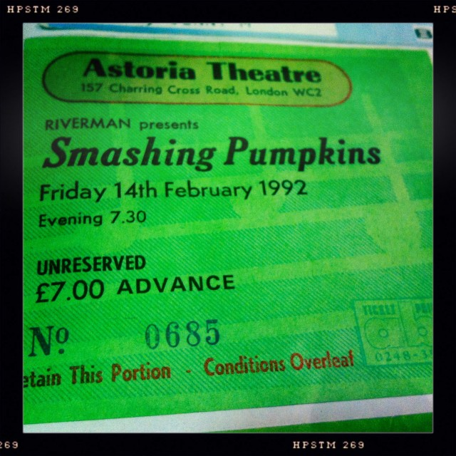 Smashing Pumpkins ticket