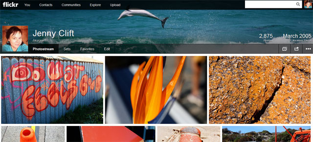New Flickr look